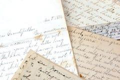 Vieilles lettres Images stock