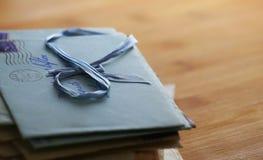 Vieilles lettres d'amour Photo stock