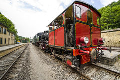 Vieilles locomotives à vapeur Photo stock