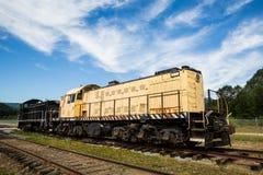 Vieilles locomotives diesel Image libre de droits