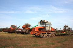 Vieilles machines agricoles Photographie stock