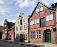 Vieilles maisons à colombage, Luneburg, Allemagne photographie stock