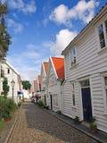 Vieilles maisons à Stavanger, Norvège. photographie stock libre de droits