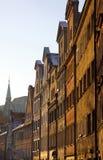 Vieilles maisons à Wroclaw Photos libres de droits