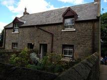 Vieilles maisons anglaises de jumeau d'agriculteur Images libres de droits