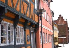 Vieilles maisons au Danemark Photo stock