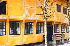Vieilles maisons au Danemark Photographie stock libre de droits