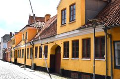 Vieilles maisons au Danemark Image stock