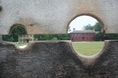 Vieilles maisons coloniales Photo stock