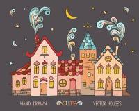 Vieilles maisons colorées européennes illustration stock