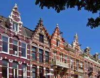 vieilles maisons d'Amsterdam Photos libres de droits