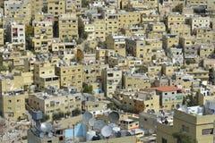 Vieilles maisons dans la capitale Amman - Jordanie Photographie stock libre de droits