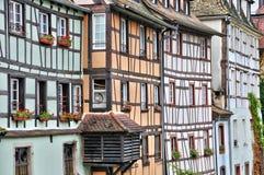 Vieilles maisons dans le secteur de la La Petite France à Strasbourg Photographie stock libre de droits