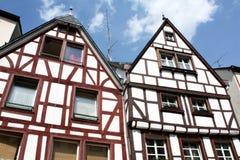 Vieilles maisons de bois de construction-trame Image libre de droits