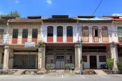 Vieilles maisons de boutique de ville de Tronoh Image libre de droits