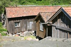 Vieilles maisons de Fishermens Photographie stock libre de droits