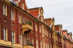 Vieilles maisons de pignon de brique à Potsdam, Allemagne Photographie stock