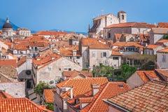 Vieilles maisons de ville de Dubrovnik Photographie stock libre de droits