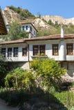 Vieilles maisons du 19ème siècle dans la ville de Melnik, Bulgarie Photos libres de droits