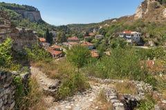 Vieilles maisons du 19ème siècle dans la ville de Melnik, Bulgarie Photographie stock