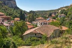 Vieilles maisons du 19ème siècle dans la ville de Melnik, Bulgarie Photo stock