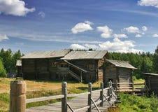 Vieilles maisons en bois Photo libre de droits