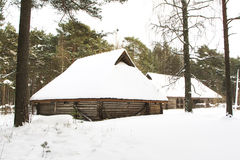Vieilles maisons en bois Image stock