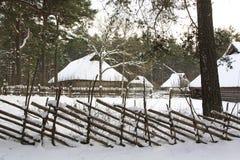 Vieilles maisons en bois Image libre de droits