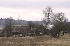 Vieilles maisons en bois images libres de droits