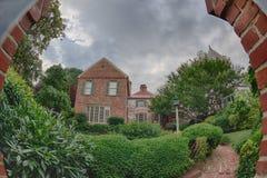 Vieilles maisons en bois de l'Alexandrie la Virginie Photo stock