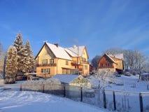 Vieilles maisons, Lithuanie Image libre de droits