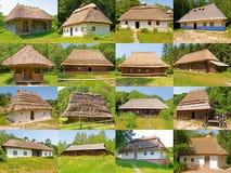 Vieilles maisons rurales Image libre de droits