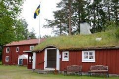 Vieilles maisons suédoises Photo libre de droits