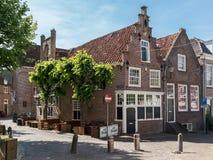 Vieilles maisons sur Groenmarkt à Amersfoort, Pays-Bas Images stock