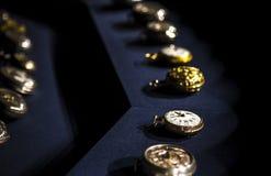 Vieilles montres de poche Photos stock