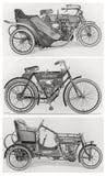 Vieilles motos de cru Image libre de droits