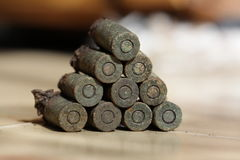 Vieilles munitions Photographie stock