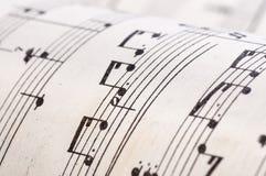 Vieilles notes de musique Photo libre de droits