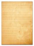 Vieilles notes de papier. série Photo libre de droits