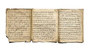 Vieilles notes manuscrites Photo libre de droits