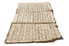 Vieilles notes manuscrites Images stock