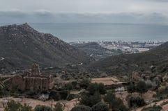Vieilles paumes de désert de monastère Photo libre de droits