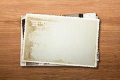Vieilles photographies blanc Photographie stock