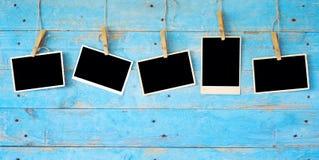 Vieilles photographies, cadres vides de photo photo stock