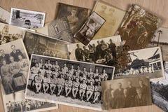 Vieilles photographies de famille Photographie stock libre de droits
