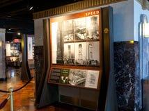 Vieilles photographies de l'Empire State Building en construction Images libres de droits