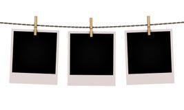 Vieilles photos d'isolement sur le fond blanc Photographie stock