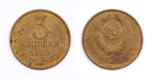 Vieilles pièces de monnaie Images libres de droits