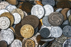 Vieilles pièces de monnaie 5 Photos libres de droits