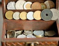 Vieilles pièces de monnaie Photos libres de droits